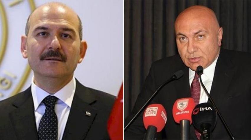 İçişleri Bakanı Süleyman Soylu'dan Samsunspor Futbol Kulübü Başkanı Yüksel Yıldırım hakkında suç duyurusu