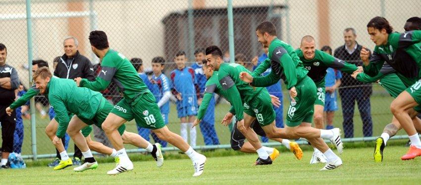 Bursaspor artık maçı bekliyor