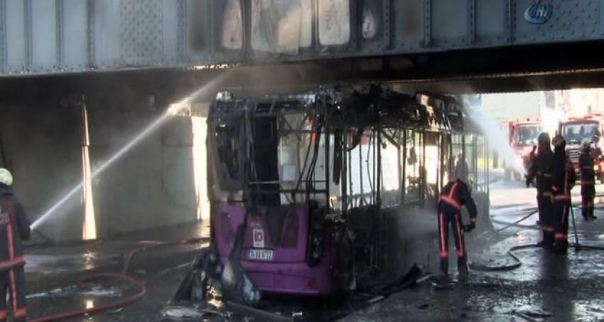 İETT otobüsü bomba gibi patladı