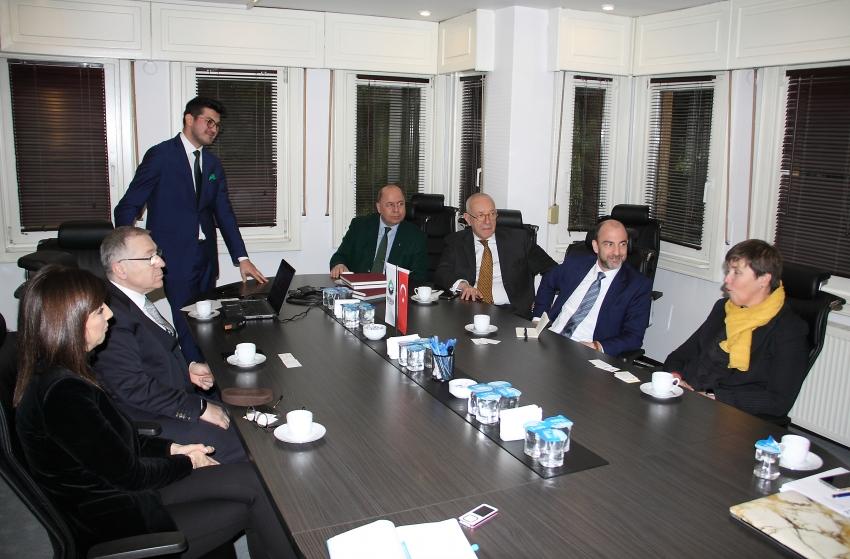 Belçika'nın İstanbul Başkonsolosu  BUSİAD'ı ziyaret etti