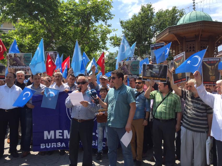 Çin zulmüne karşı Bursa'dan boykot çağrısı