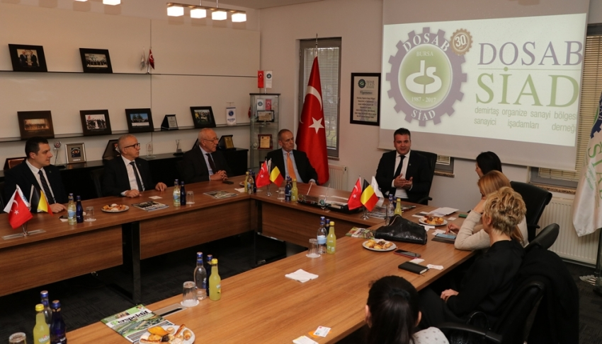 Belçika İstanbul Başkonsolosu DOSABSİAD'da