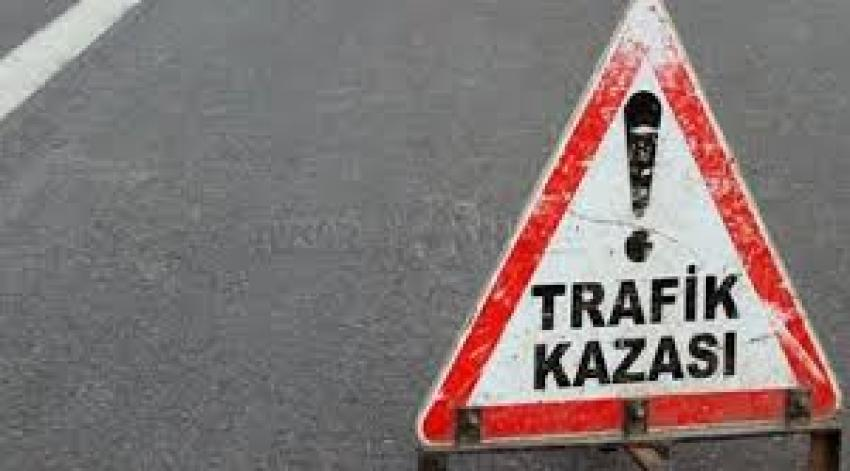 Bursa'da kaza yapan motosiklet sürücüsü...