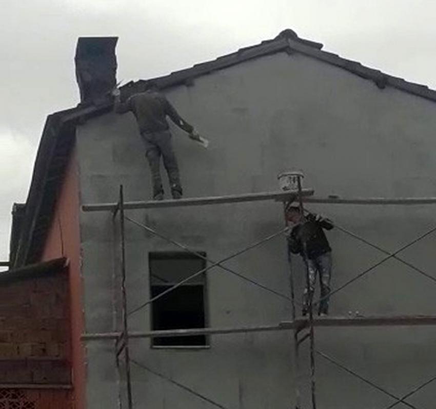 İnşaatta tehlikeli çalışma