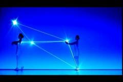 Işıklarla yapılan harika koreografi