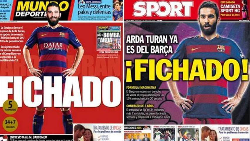 İspanya'da manşetler Arda!