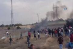 İsrail askerleri gerçek mermi kullandı: 1 ölü, 96 yaralı