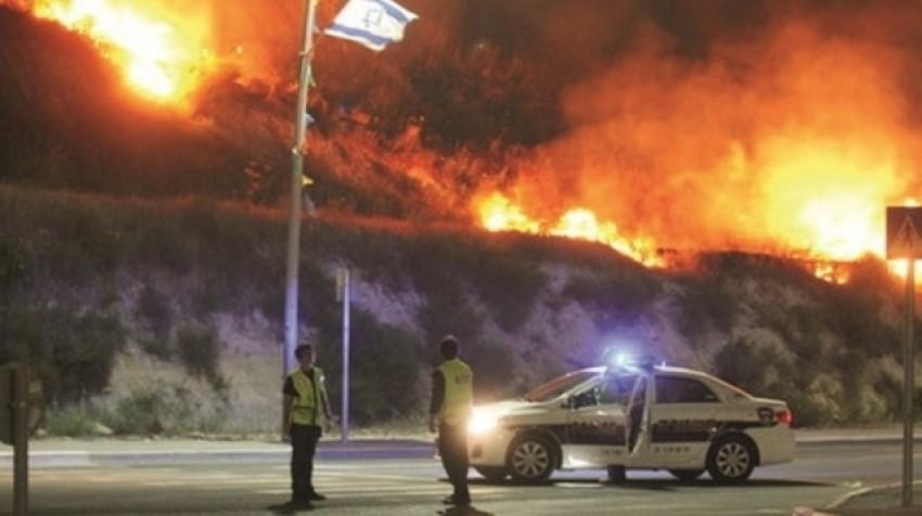 İsrail'de yangın: 8 yaralı