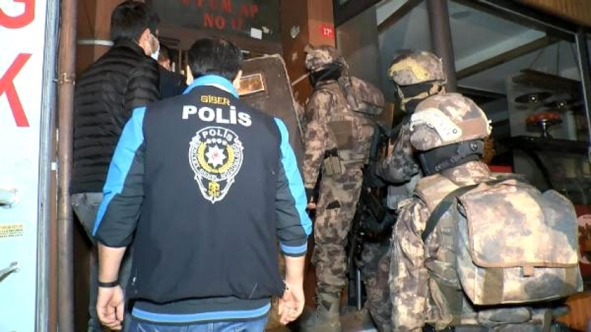 Bursa'da bahis operasyonu