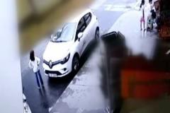 İstanbul'da kamyonet dehşeti kamerada