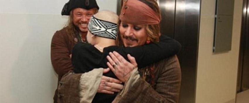 Johnny Depp'ten büyük jest