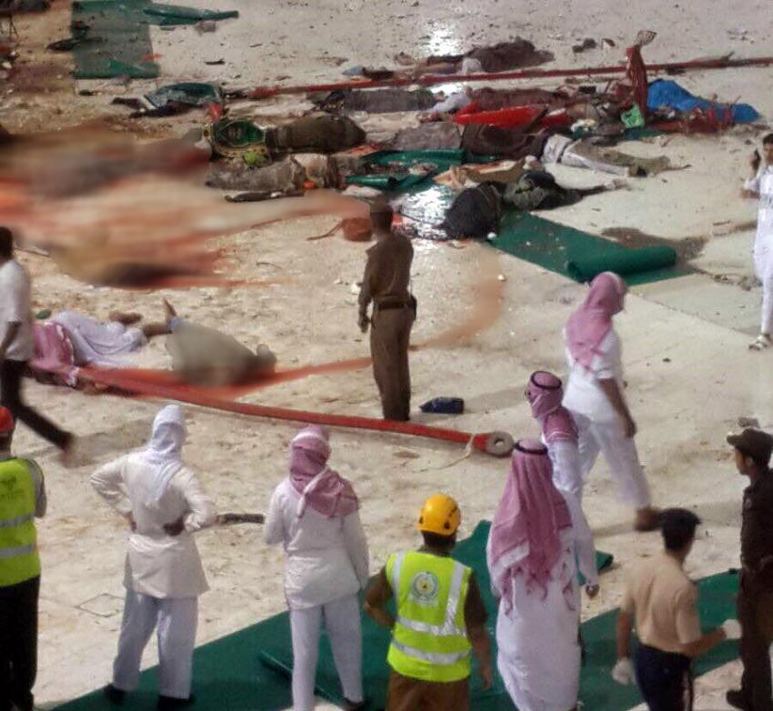 Kabe'de vinç kazası