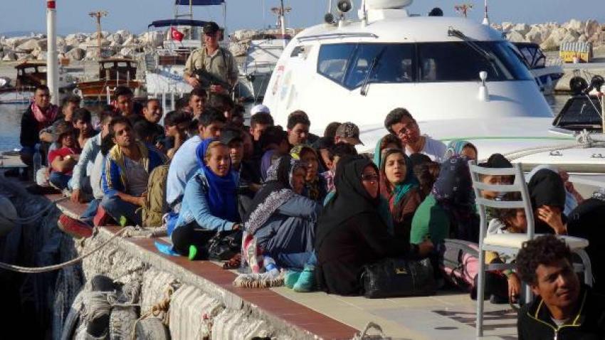 Kuzey Ege'de 101 kaçak yakalandı