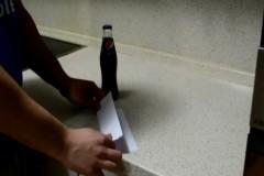 Kağıtla Şişe Kapağı Açma