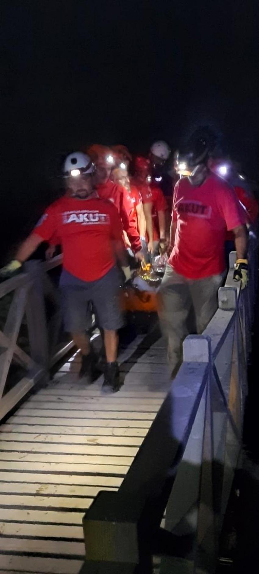 Uludağ'da 4 saat süren kurtarma operasyonu
