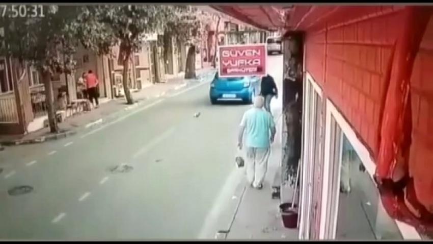 Bursa'da vicdansız sürücü kediyi ezip geçti