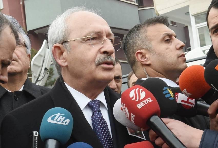 Kılıçdaroğlu'ndan Bakan Tüfenkci'ye taziye telefonu