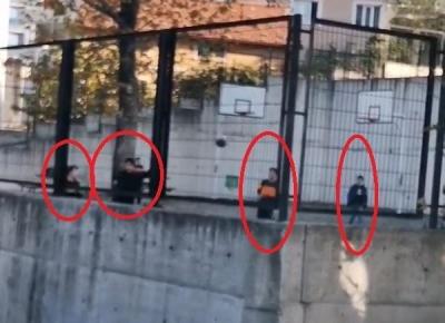 Bursa'da polisten kaçan çocuklar...