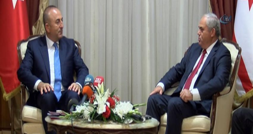 KKTC Başbakanı, Çavuşoğlu'nu kabul etti