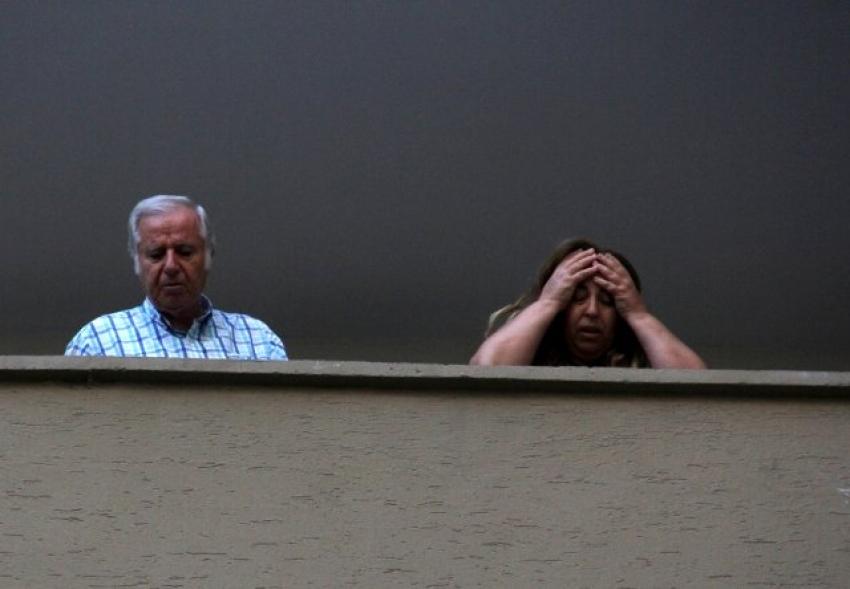 Balkona çıktıklarında şoke oldular