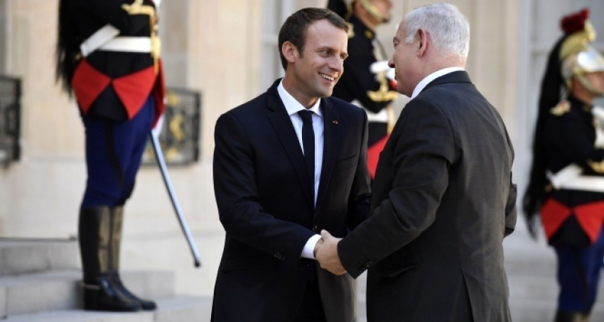 Macron, Netanyahu'yu kabul etti