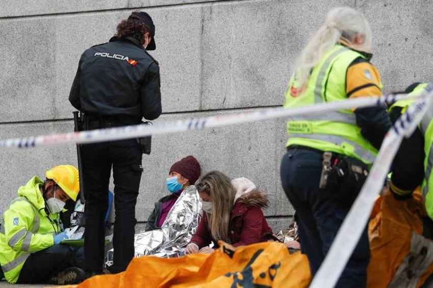 Madrid'de patlama. ölü ve yaralılar var...