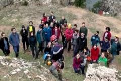 Mağaracılardan kayalıklarda kurtarma çalıştayı
