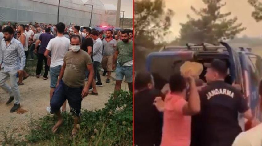 Manavgat'taki yangını çıkardığı iddia edilen kişilere linç girişimi