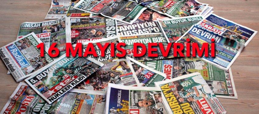 16 Mayıs manşetleri