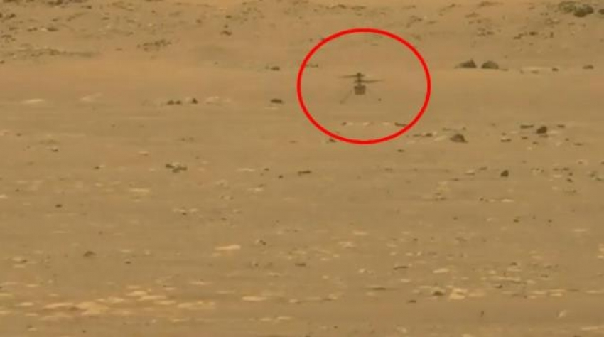 NASA helikopteri Ingenuity Mars'ta ilk uçuşunu yaptı