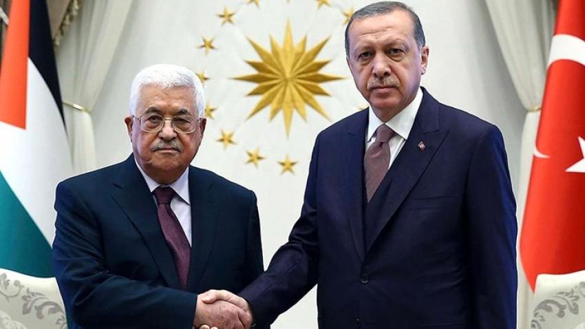 Erdoğan ve Abbas görüşmesi
