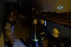 Metruk binada çıkan yangın korku ve paniğe neden oldu