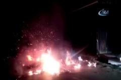 Mobilya imalathanesinin yanmasını polis önledi