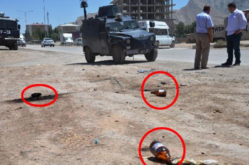 İran plakalı TIR'lara molotoflu saldırı