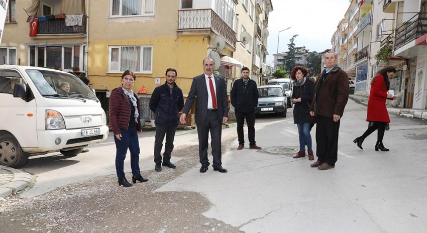 Türkyılmaz'dan, Mudanya'da mahalle ziyaretleri