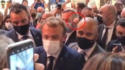 Fransa Cumhurbaşkanı Macron'a saldırı