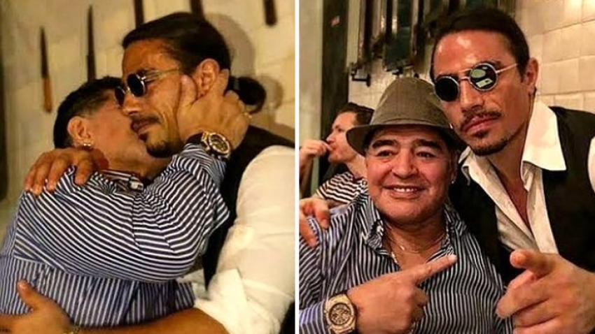 Nusret, Maradona'nın masasını kalıcı olarak revize etti