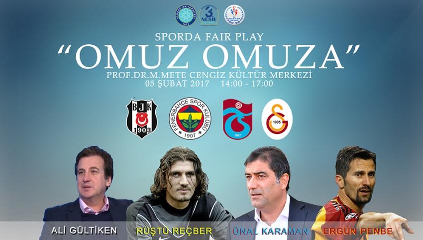Eski milli futbolcular UÜ'de 'Sporda Fair Play'i konuşacak
