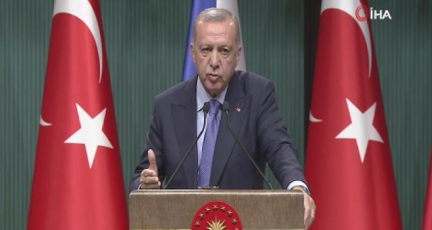 Cumhurbaşkanı Erdoğan'dan güvenli bölge açıklaması