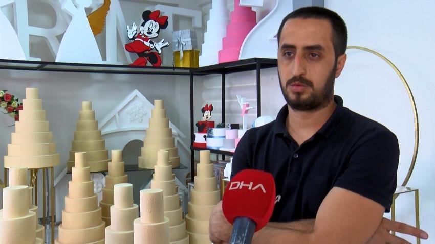 Bursa'da 10 katlı pasta çalındı