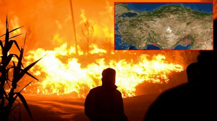 Orman yangınları NASA haritasında!