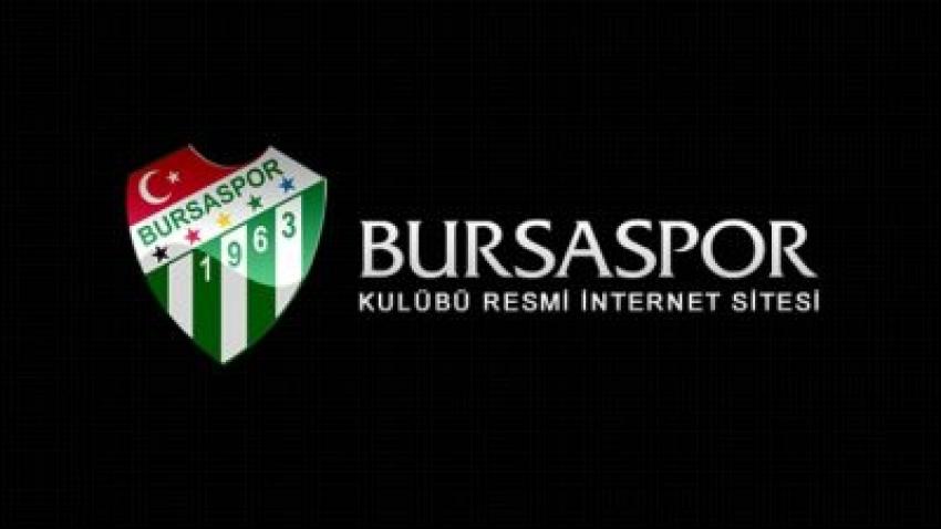 Bursaspor Kulübü'nden geçmiş olsun mesajı!