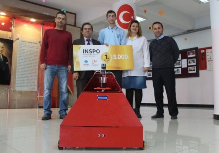 Türk öğrencinin robotu birinci oldu!