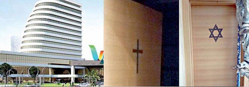 Tepkiler üzerine o AVM'deki kilise ve havra kapatıldı