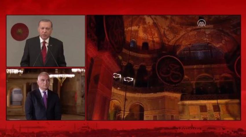 Ayasofya'da Fetih Suresi okundu! Erdoğan'dan önemli açıklamalar