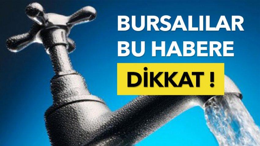 Bursa'da su kesintileri