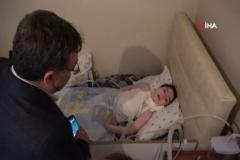 Sağlık Müdürü'nden küçük Denizhan'a ziyaret