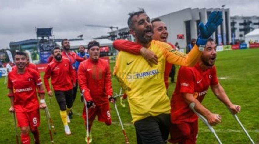 Türkiye - Rusya: 5-2 Ampute Milli Futbol Takımı'mız finalde!