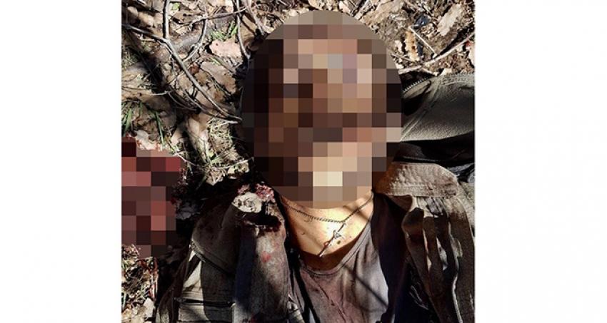 Öldürülen teröristin boynundan haç çıktı
