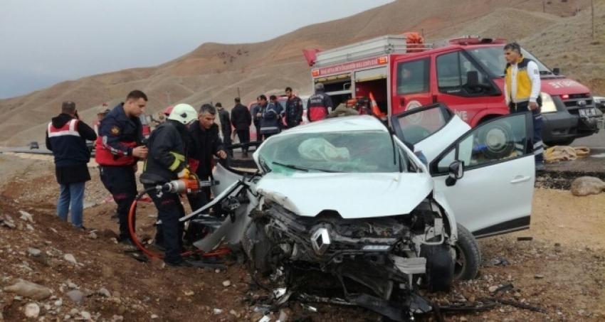 Malatya-Sivas karayolunda kaza
